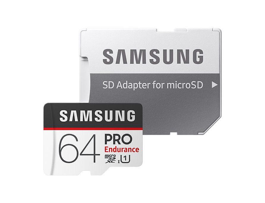 Samsung micro SDXC 64GB PRO Endurance + SD adaptér (MB-MJ64GA/EU)