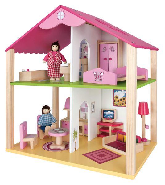 Eichhorn Dřevěný domeček pro panenky s přísl.