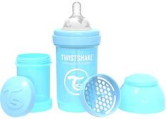 Twistshake Cumisüveg Anti-Colic 180ml, Pasztell kék