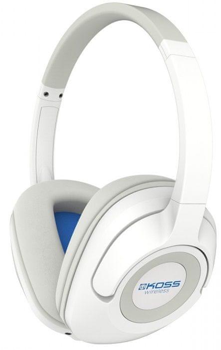 KOSS BT539i bezdrátová sluchátka, bílá