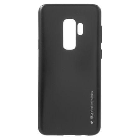 Goospery tanek silikonski ovitek i-Jelly Metal za Samsung Galaxy S9 Plus, črn
