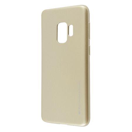 Goospery tanek silikonski ovitek i-Jelly Metal za Samsung Galaxy S9 Plus G965, zlat