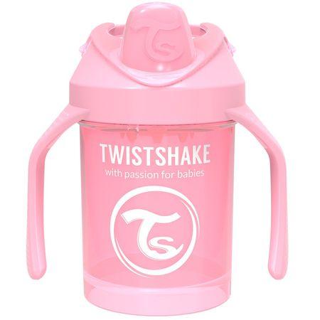Twistshake Hrnek učicí 230ml 4+m, Patelově růžová