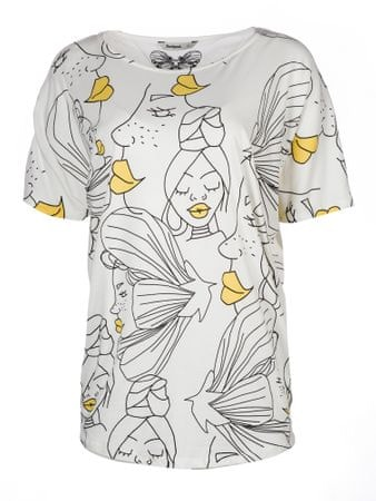 Desigual dámské tričko Yakarta XS biela  1e4584df6ec