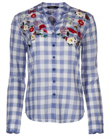Desigual dámská košile Cabaceira XS modrá