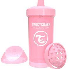 Twistshake Láhev pro děti 360ml 12+m, Pastelově růžová