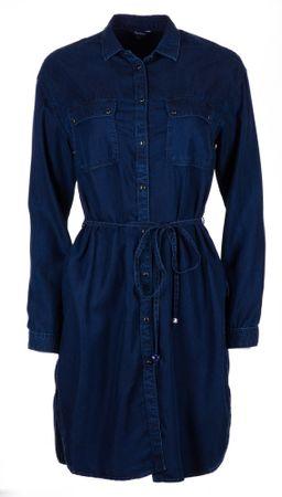 Pepe Jeans ženska obleka Monica L temno modra