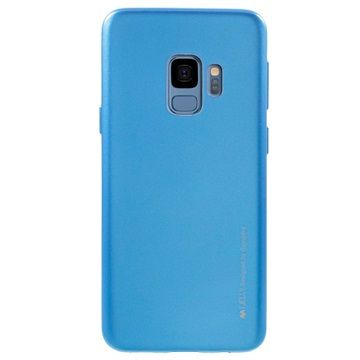 Goospery tanek silikonski ovitek i-Jelly Metal za Samsung Galaxy S9 G960, moder