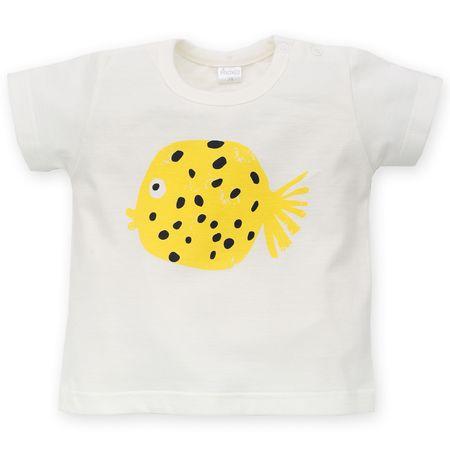 PINOKIO Chlapecké triko Little Fish 74 biela