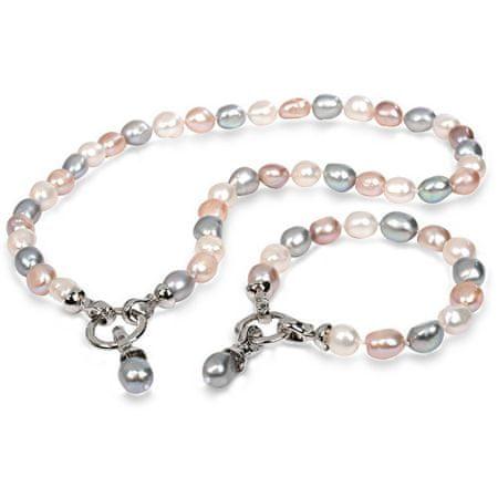 JwL Luxury Pearls Súprava náhrdelníku a náramku z pravých perál JL0263