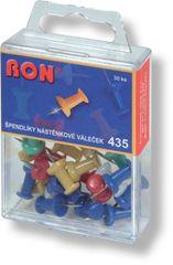 Věžičky - špendlíky do korkové nástěnky 435 / 30 ks barevné