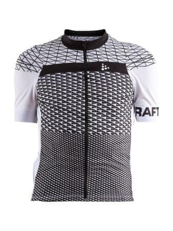 Craft moška kolesarska majica Route, belo/črna, S