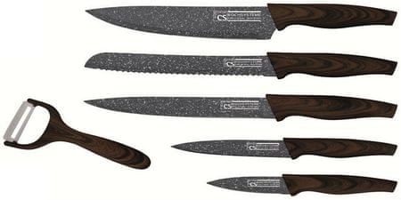 CS Solingen zestaw noży z marmurową powłoką Steinfurt, 6 el.