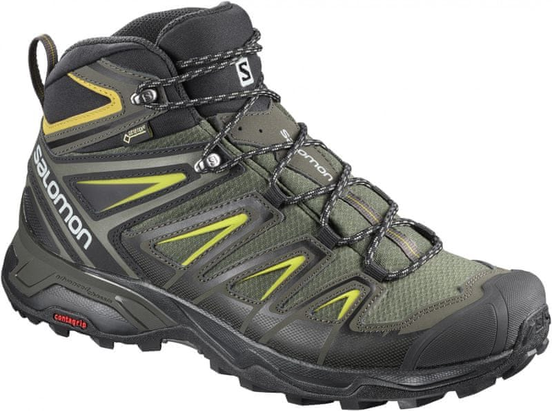Salomon X Ultra 3 Mid Gtx® Castor Gray/Black/Green Sulphur 42.7 (8,5UK)