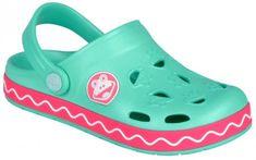 Coqui Dívčí sandály Froggy růžovo-mentolová