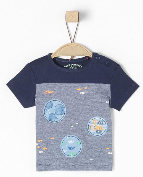 s.Oliver chlapecké tričko 50/56 modrá
