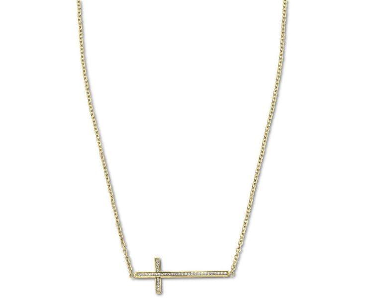 Lotus Style Pozlacený náhrdelník s křížkem naležato LS1874-1/2