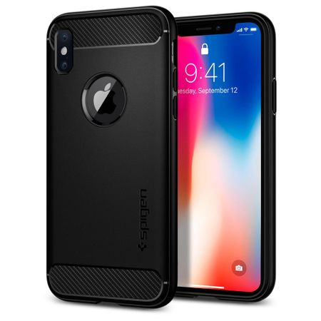 Spigen ovitek Rugged Armor za iPhone X, črn