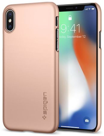 Spigen ovitek Thin Fit Blush Gold za iPhone X, zlat