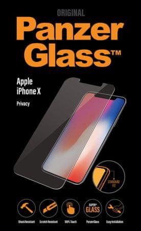 PanzerGlass zaščitno steklo Privacy za iPhone X, črno