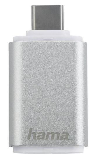 Hama čitalec za SD kartice USB 3.1 Gen 1 tip C, srebrn