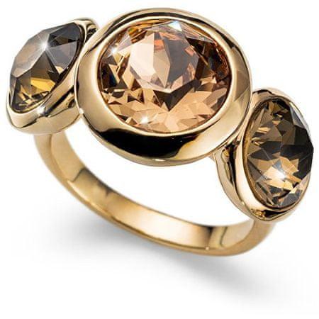 Oliver Weber Pozlacený prsten s krystaly Working Every 41130 246 (Obvod M (53 - 55 mm))
