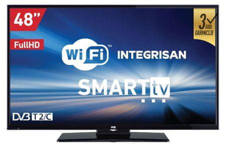 VOX electronics LED TV sprejemnik 48DSW289B, Smart TV