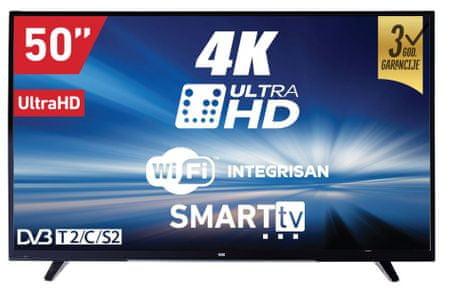VOX electronics 4K LED TV sprejemnik 50DSW293V, Smart TV