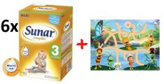 Sunar kojenecké mléko Complex 3 - 6 x 600g + Bludiště s Včelkou Májou