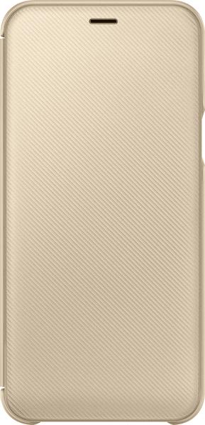 Samsung A6 flipové pouzdro, zlatá EF-WA600CFEGWW
