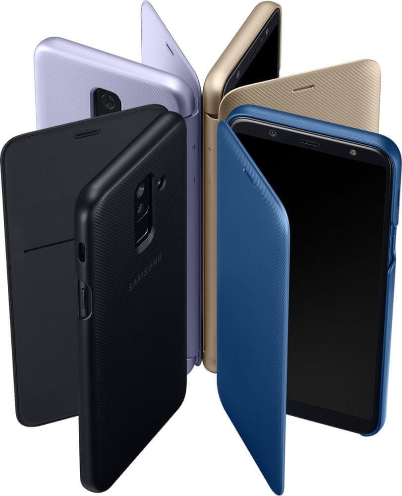 Samsung A6+ flipové pouzdro, zlatá EF-WA605CFEGWW - rozbaleno