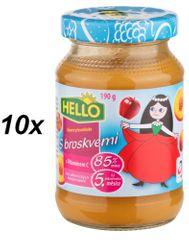 Hello Ovocná přesnídávka s broskvemi a vitamínem C 10x190g