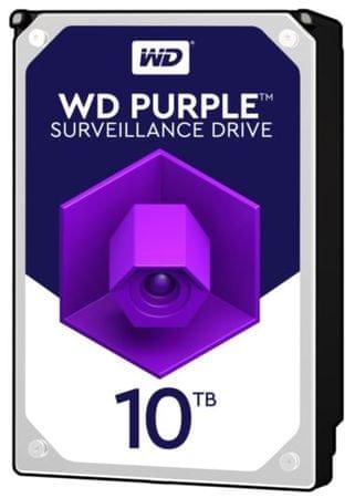 """WD trdi disk Purple 10 TB, 8.89 cm (3,5""""), SATA 6 Gb/s, 5400, 128 MB"""
