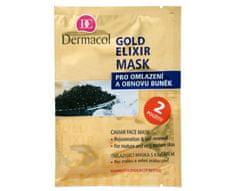 Dermacol Omlazující maska s kaviárem (Gold Elixir Caviar Face Mask) 2 x 8 g