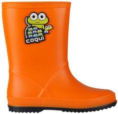Coqui dětské holínky Rainy 25 oranžová