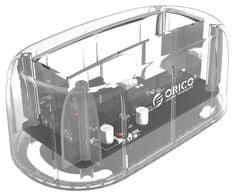 "Orico postaja za HDD/SSD, 6.35 cm (2.5"")/8.89 cm (3.5""), SATA v USB 3.0, prozorna (6139U3)"