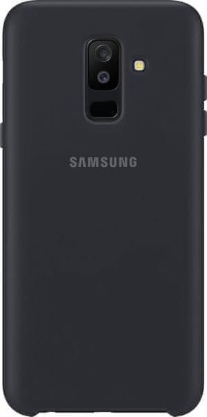 Samsung A6+ dvouvrstvý ochranný zadní kryt, černá EF-PA605CBEGWW