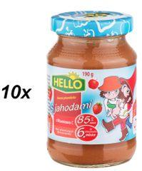 Hello Ovocná přesnídávka s jahodami a vitaminem C 10x190g