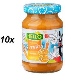 Hello Ovocná přesnídávka s jablkem a mrkví 10x190g