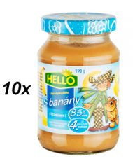 Hello Ovocná přesnídávka s banány 10x190g