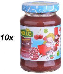 Hello Ovocná přesnídávka s višněmi a vitamínem C 10x190g