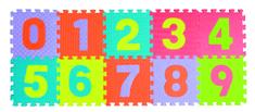 Teddies BABY Pěnové puzzle čísla 0-9 podložka 25x25 cm