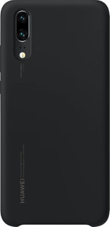 Huawei silikonski ovitek za Huawei P20, črn
