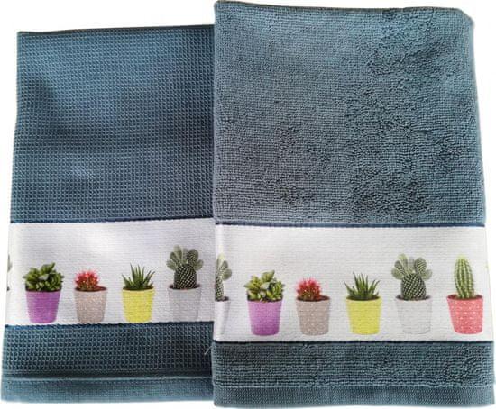 Framsohn zestaw ścierka + ręcznik kuchenny Cactus