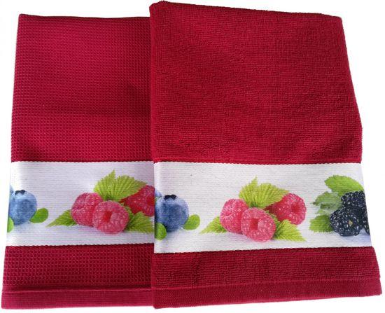 Framsohn zestaw ścierka + ręcznik kuchenny Berries