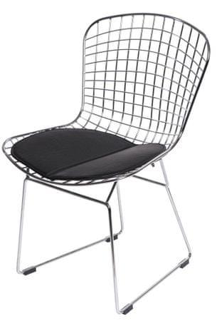 Mørtens Furniture Jídelní žídle William, chrom/černá