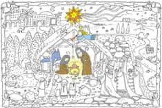 Omalovánky MAXI 120x80 cm Vánoční betlém