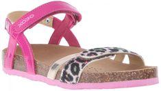Geox Dívčí páskové sandály Aloha modro-růžová