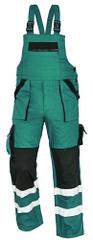 Max Montérky na traky s reflexnými pruhmi zelená/čierna 46