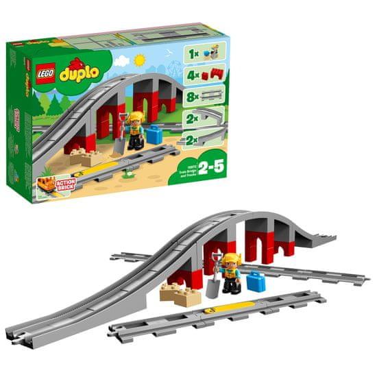 LEGO DUPLO® Town 10872 Vasúti híd és sínek